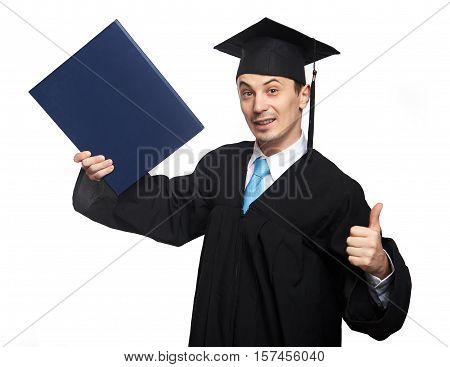 Happy Student Man With Diploma
