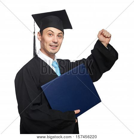 Succeed Student With Diploma
