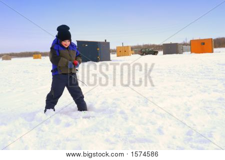 Ice Fishing For The Big One