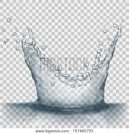 Transparent Gray Crown From Splash Of Water