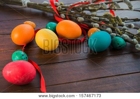 Easter Eggs And Willow Tree