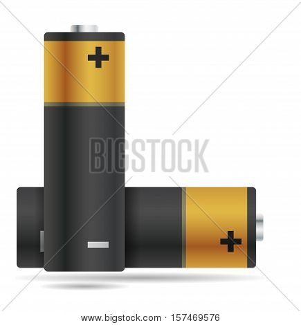 Two abstract batteries - vector illustration, isolated objects