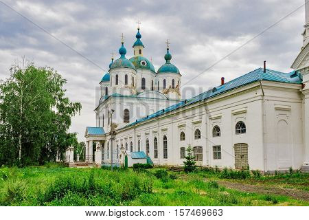 View of the Cathedral of of Our Saviour in Yelabuga. Russia