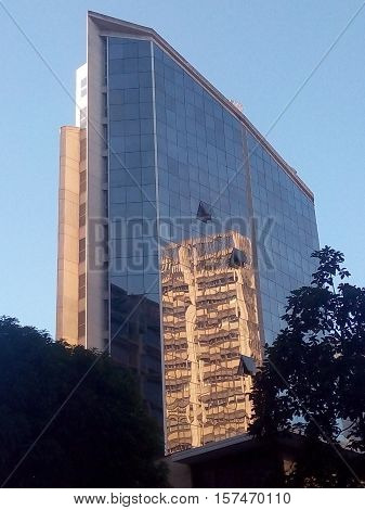 Urban Modern Architecture Hotel and Office Building