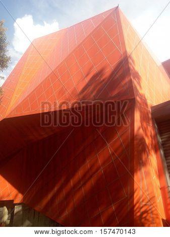Detail of a modern art museum building