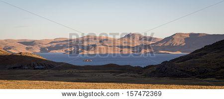Lake Lagunillas, Andes of Peru, en route to Puno