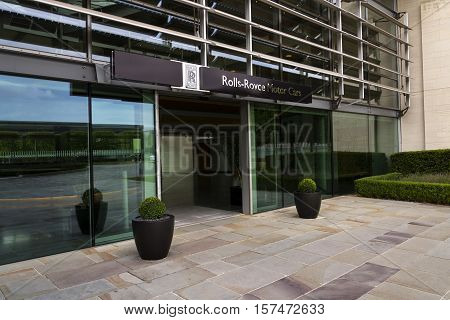 Westhampnett, United Kingdom - August 11: Rolls-royce Motor Cars Entrance Hall At The Goodwood Car F
