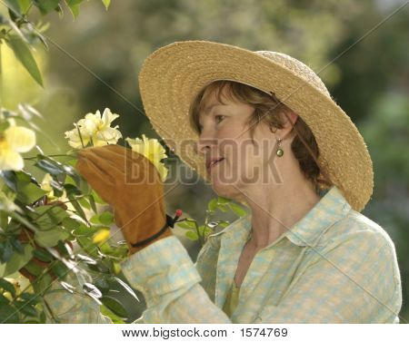 Middle Age Female Gardener
