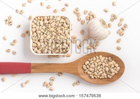 Fradinho Kidney Beans. White Beans isolated on white background
