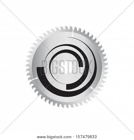 Circular saw disk. Vector object is isolated