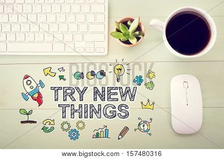 Try New Things Concept With Workstation
