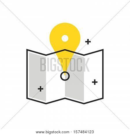 Color Box Icon, Map, Location Concept