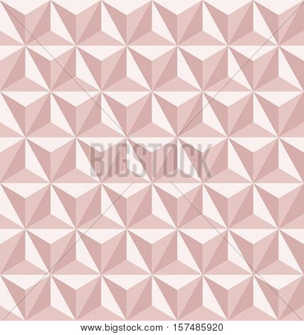 Vector seamless abstract triangles pattern in rose gold