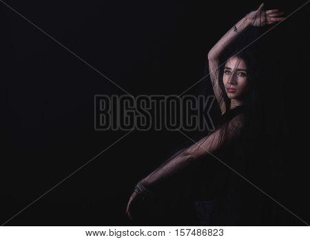 Female Posing In The Studio