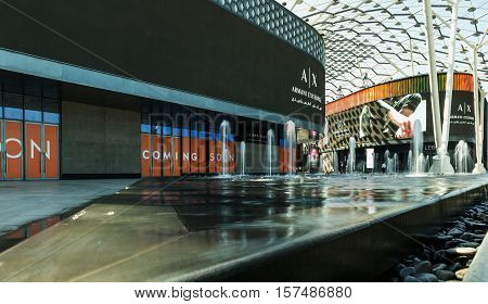 DUBAI - NOVEMBER 08 2016: LUMAS Dubai City Walk. New modern part of Dubai City. City Walk is reminiscent of European-style streets.