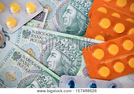 Pills And Polish Zloty Bills