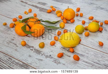 Background Of Turkish Citrus Fruits