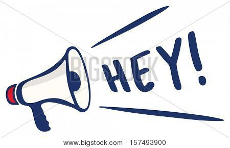 Hey Hello Greeting Attention Communication Concept