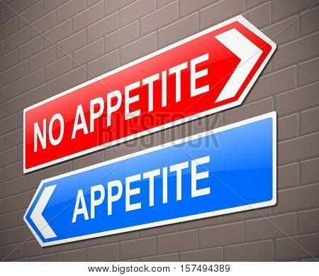 Appetite Or No Appetite Concept.