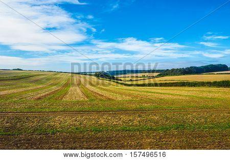 HDR English country panorama around Salisbury in England UK