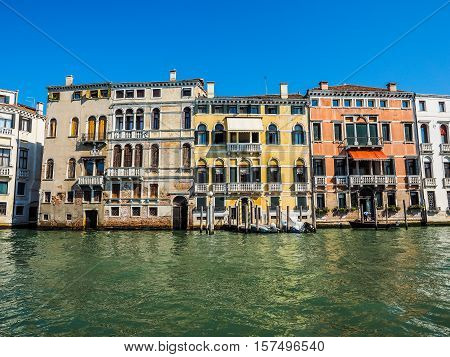 Canal Grande In Venice Hdr