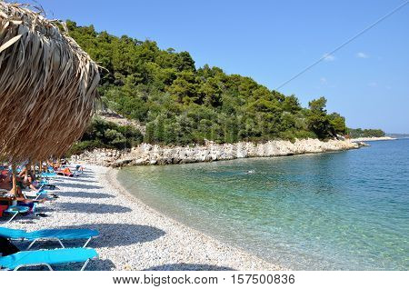 Leftis Gialos beach in Alonissos island Greece