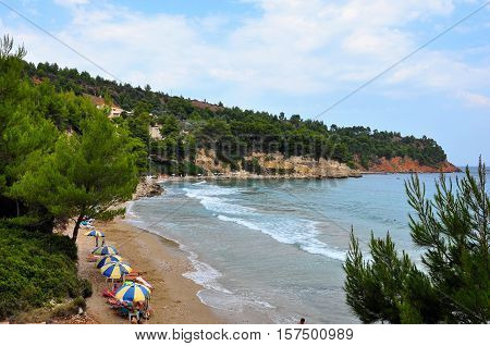 Chrisi milia beach in greek island Alonissos