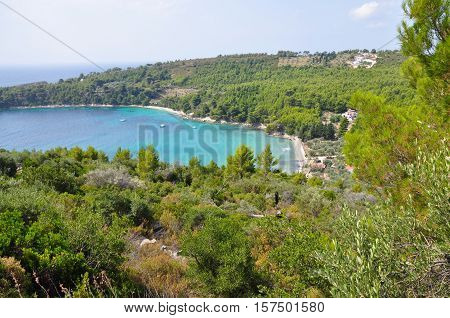 Tsortsi Gialos beach in Alonissos Sporades Greece
