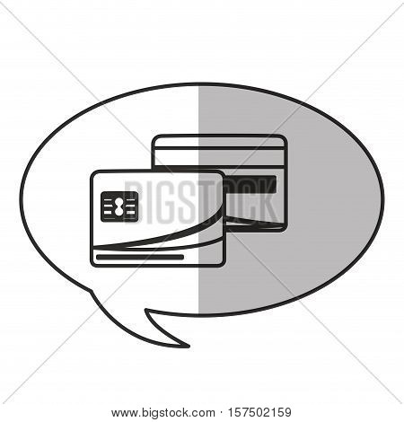 Credit card inside bubble icon. Money financial item commerce market and buy theme. Isolated design. Vector illustration