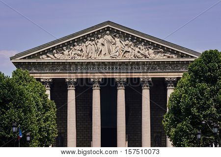 Neoclassical temple of the Holy Catholic Magdalene in Paris