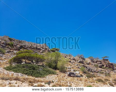 Gorgeous Cretan Sea. Seascape of blue water, the beauty of nature.