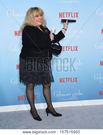 LOS ANGELES - NOV 18:  Sally Struthers arrives to the Netflix's 'Gilmore Girls: A Year In The Life' Premiere on November 18, 2016 in Westwood, CA
