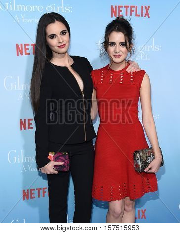 LOS ANGELES - NOV 18:  Vanessa Marano and Laura Marano arrives to the Netflix's 'Gilmore Girls: A Year In The Life' Premiere on November 18, 2016 in Westwood, CA
