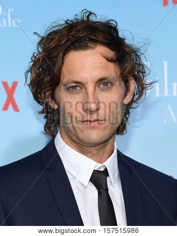 LOS ANGELES - NOV 18:  Tanc Sade arrives to the Netflix's 'Gilmore Girls: A Year In The Life' Premiere on November 18, 2016 in Westwood, CA