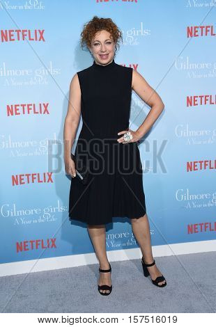 LOS ANGELES - NOV 18:  Alex Kingston arrives to the Netflix's 'Gilmore Girls: A Year In The Life' Premiere on November 18, 2016 in Westwood, CA