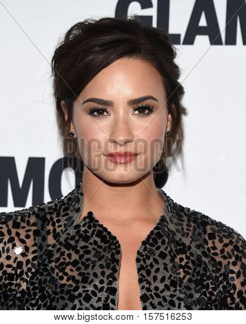 LOS ANGELES - NOV 14:  Demi Lovato arrives to the Glamour Celebrates Women of the Year Awards 2016 on November 14, 2016 in Hollywood, CA