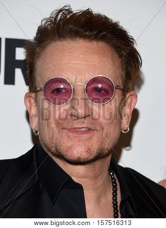 LOS ANGELES - NOV 14:  Bono arrives to the Glamour Celebrates Women of the Year Awards 2016 on November 14, 2016 in Hollywood, CA