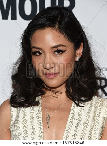 LOS ANGELES - NOV 14:  Constance Wu arrives to the Glamour Celebrates Women of the Year Awards 2016 on November 14, 2016 in Hollywood, CA