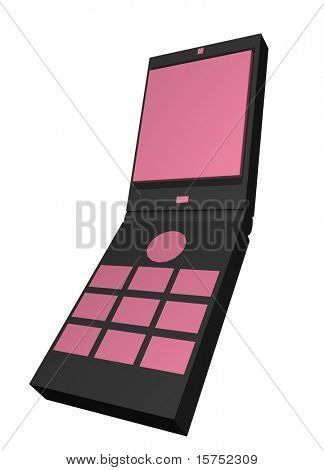 Cellular phone used for business clip art