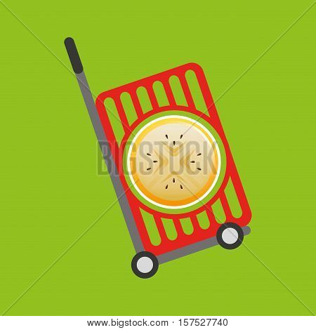 trolley shop juicy passionfruit vector illustration eps 10