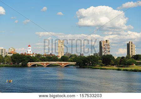 Charles river and Harvard University for design