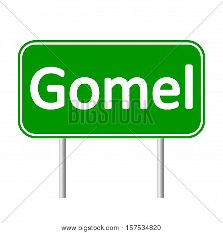 Gomel road sign isolated on white background.