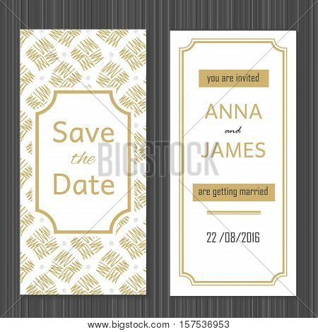 Modern Wedding invitation with a abstract design