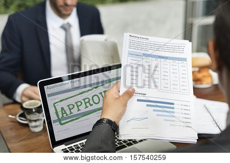 Approved Accepted Application Form Concept