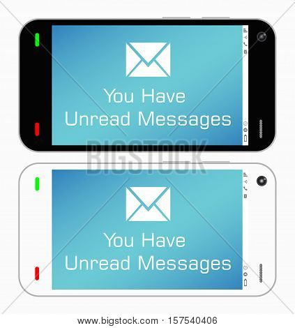 a real smartphone with a unread messages