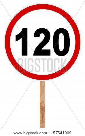 Prohibitory Traffic Sign - Speed Limit 120