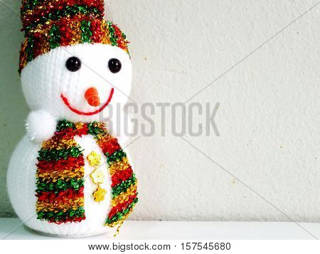 cute snowman with space copy background chritmas them