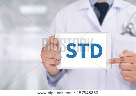 Std - Sexually Transmitted Disease. Medical Concept: Stop Std