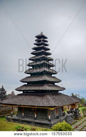 black pagoda at the Besakih Temple in Bali - Pura Besakih