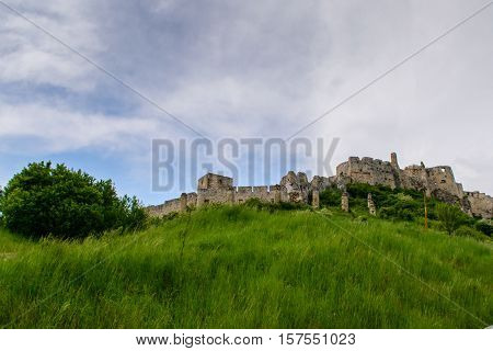 View Spis Castle in Slovakia. Beauty of nature.